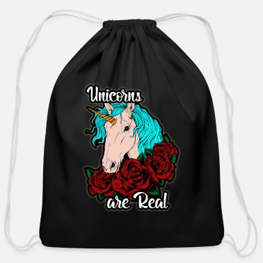 Film fairy tales horse Glitter - Cotton Drawstring Bag