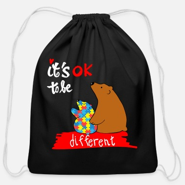 Autism Awareness Day Autism Awareness Day Mama Bear Autism Mom - Cotton Drawstring Bag