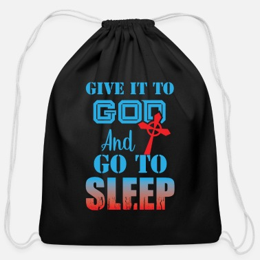 Gods Son Trust in God Coptic Orthodox Catholic T-Shirt - Cotton Drawstring Bag