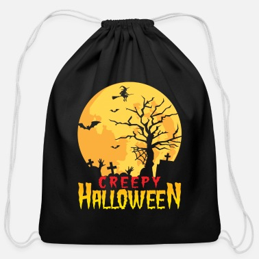 Spread Creepy funny ghost witch ghost T-shirt - Cotton Drawstring Bag