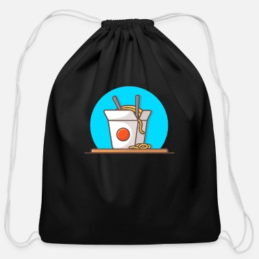 Food Japan Style Chinese Noodles Asian Food Japan Food - Cotton Drawstring Bag