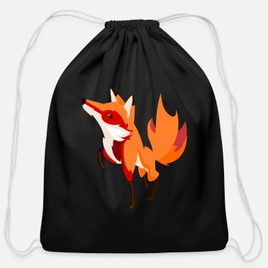 Foxtrot Lucky fox foxtrot - Cotton Drawstring Bag