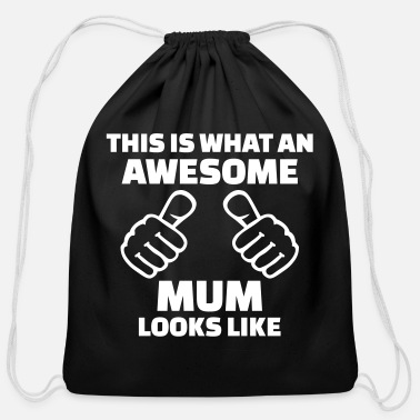 Mum Mum - Cotton Drawstring Bag