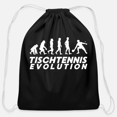 Racket Table tennis evolution ping pong saying gift - Cotton Drawstring Bag