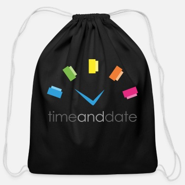Date Of Birth Time and Date - Cotton Drawstring Bag