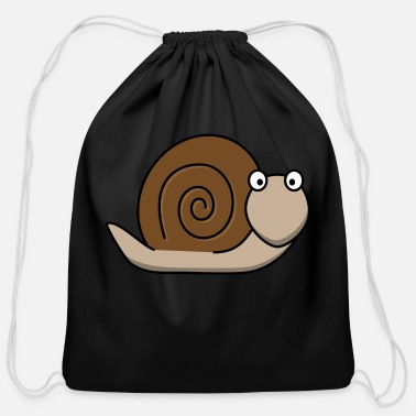 Snail-shell snail funny slug snail shell - Cotton Drawstring Bag