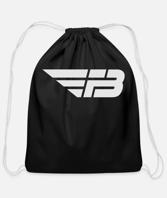 Stadium Bags & Backpacks - FBL White (no name) - Cotton Drawstring Bag black