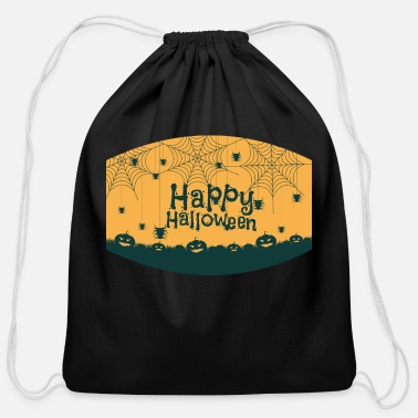 Happy halloween face mask - Cotton Drawstring Bag