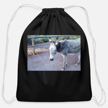 Canary Islands Donkey III - Cotton Drawstring Bag