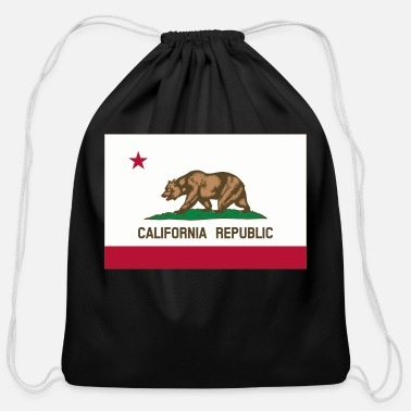 California california - Cotton Drawstring Bag