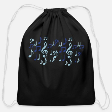 music notes - Cotton Drawstring Bag