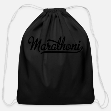 Marathon marathon - Cotton Drawstring Bag