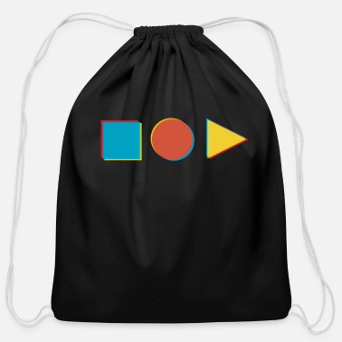 Shapes in shape - Cotton Drawstring Bag
