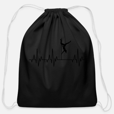 Guys Night Out Heartbeat Pole Dance Dancing Dancer - Cotton Drawstring Bag