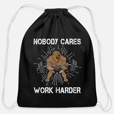 Work Workout Muscle Lifting Funny Gym Gift - Cotton Drawstring Bag