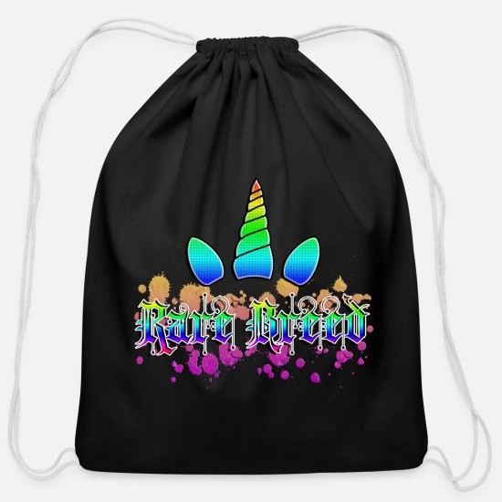 Gay Pride Bags & Backpacks - Rare Breed - Cotton Drawstring Bag black