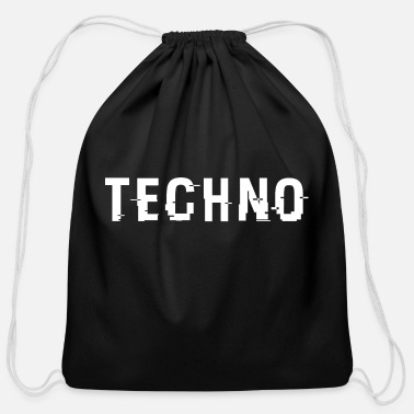 Techno Techo Hacked White - Cotton Drawstring Bag