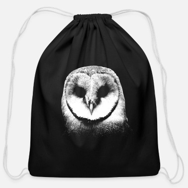 Owl Cool Barn Owl Drawing Personalisable - Cotton Drawstring Bag