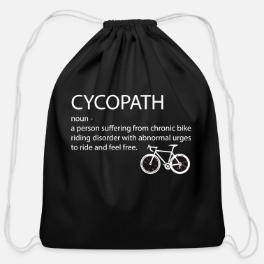 Funny bicycle cyclist - Cotton Drawstring Bag