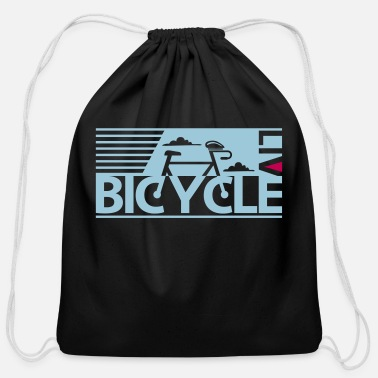 bicycle live - Cotton Drawstring Bag