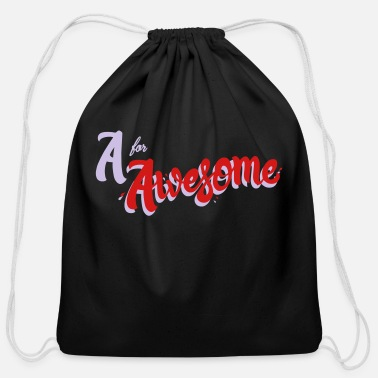 Awesome A for Awesome - Cotton Drawstring Bag