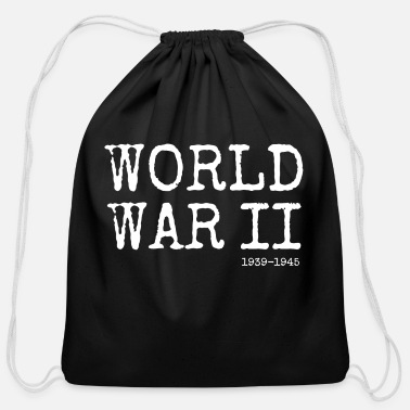 World War Ii World War II 1939-1945 (White) - Cotton Drawstring Bag