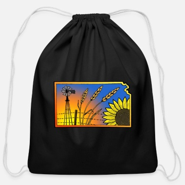 Kansas - Cotton Drawstring Bag