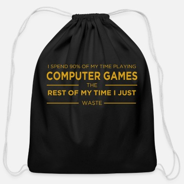 Computer Game Computer Gaming - Cotton Drawstring Bag