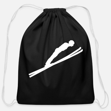 Ski Jumping jump ski jumping - Cotton Drawstring Bag