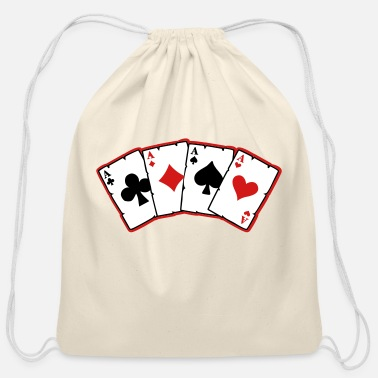 Cards cards - Cotton Drawstring Bag