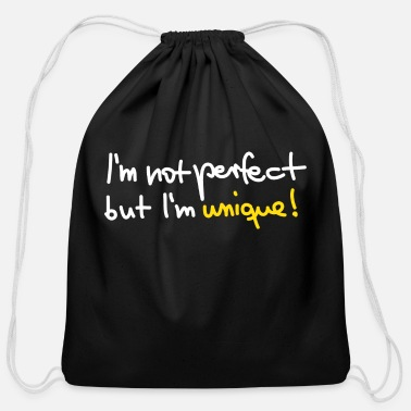 Unique not unique perfect but unique - Cotton Drawstring Bag