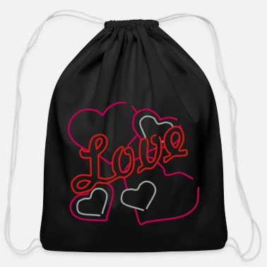 Love Heart Love Hearts - Cotton Drawstring Bag