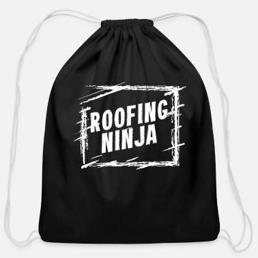 Roofing Ninja Roofing Ninja - WorkProfession product | Men - Cotton Drawstring Bag