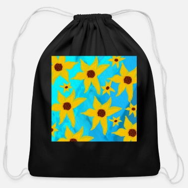 Funky Sunflowers - Cotton Drawstring Bag