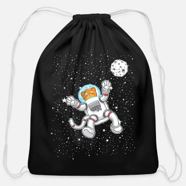 Drawstring Backpack Astronaut Space Mars Gym Bag