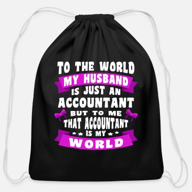 accountant accountants accounting math saying cpa - Cotton Drawstring Bag