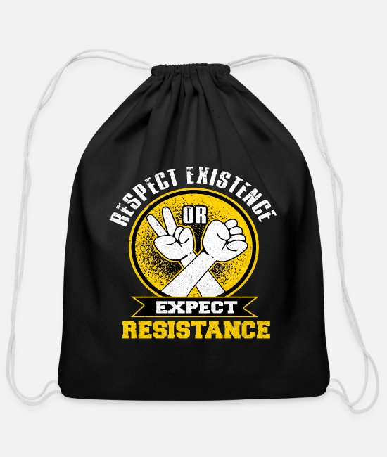 Social Bags & Backpacks - Communism - Cotton Drawstring Bag black