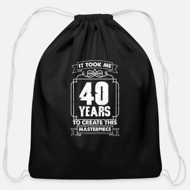 Birthday 40th Birthday - Cotton Drawstring Bag