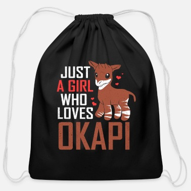 Congolese Girlfriend Okapi - Cotton Drawstring Bag