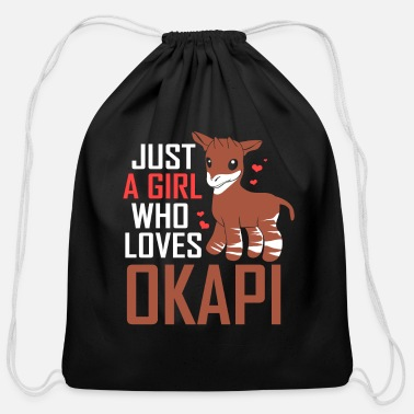Congolese Girlfriend Okapi Forest Giraffe Serengeti Africa Safari - Cotton Drawstring Bag