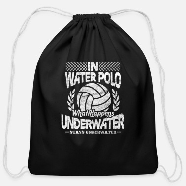 Water In Water Polo What Happens Underwater - Cotton Drawstring Bag