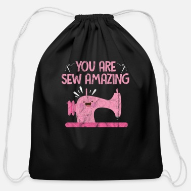 Knitting You Are Sew Amazing Sewing - Cotton Drawstring Bag
