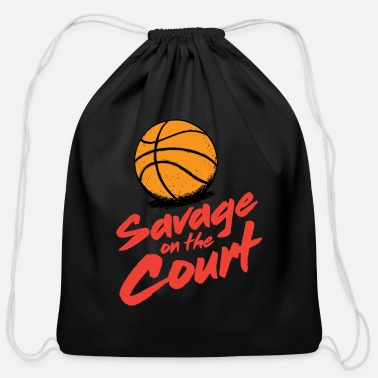 Court Savage on the court - Cotton Drawstring Bag