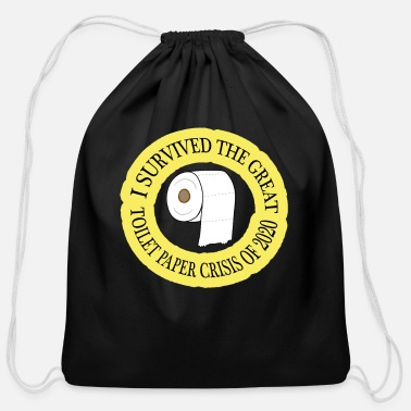 Paper I survived the great toilet paper crisis of 2020 - Cotton Drawstring Bag