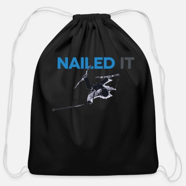 Nail Nailed It - Cotton Drawstring Bag