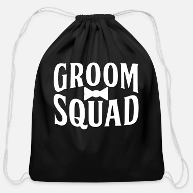 Wedding Party Groom Squad Wedding Party - Cotton Drawstring Bag