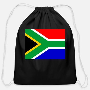 South Africa South Africa Flag - Cotton Drawstring Bag
