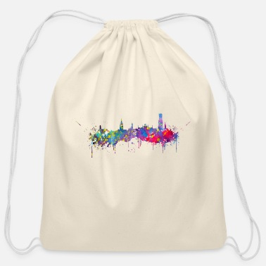 City Bruges skyline - Cotton Drawstring Bag