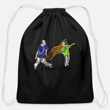 Hip hip hop music - Cotton Drawstring Bag