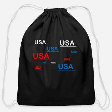 Usa USA USA USA - Cotton Drawstring Bag